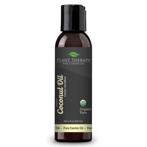Organic Fractionated Coconut Carrier Oil, 4oz