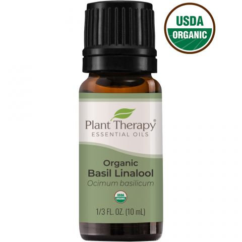Organic Basil Linalool Essential Oil, 10ml
