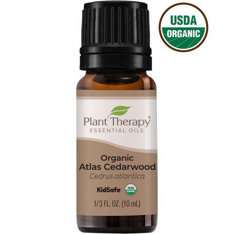 Organic Atlas Cedarwood Essential Oil, 10ml