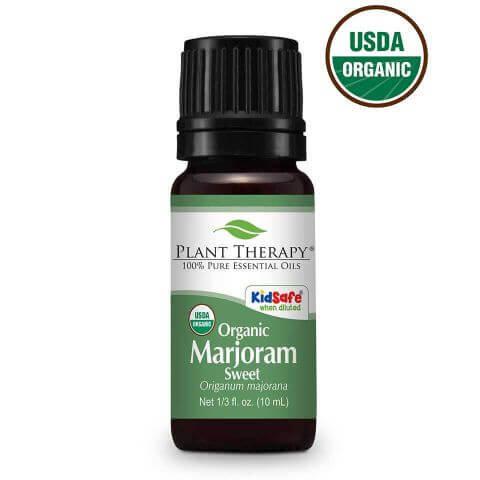 Organic Sweet Marjoram Essential Oil, 10ml