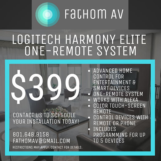 LOGITECH HARMONY ELITE ONE-REMOTE SYSTEM
