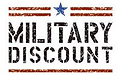 Military Discount Graphic