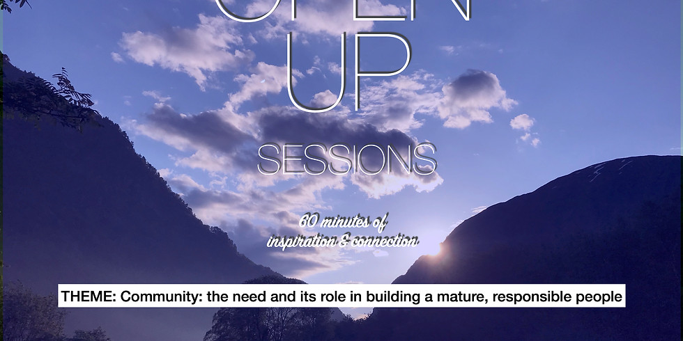 Open Up Session 19.10.2020 - Every 3rd Monday
