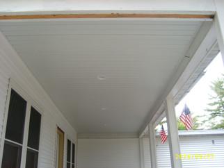 soffit(under porch roof)