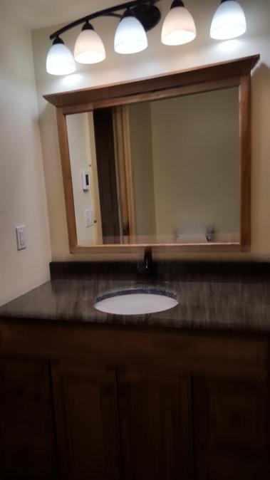 bathroom vanity & mirror