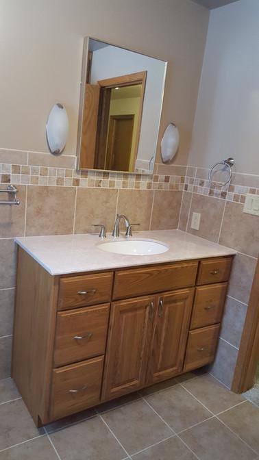 bath remodel custom vanity