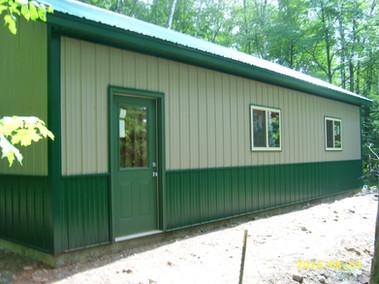 steel exterior garage