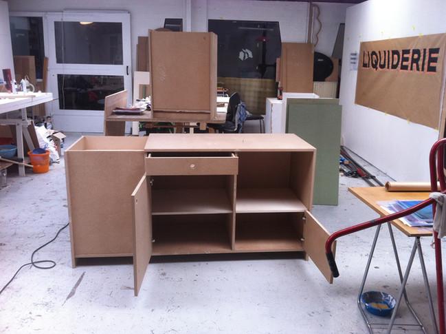 Fabrication d'une cuisine sur mesures