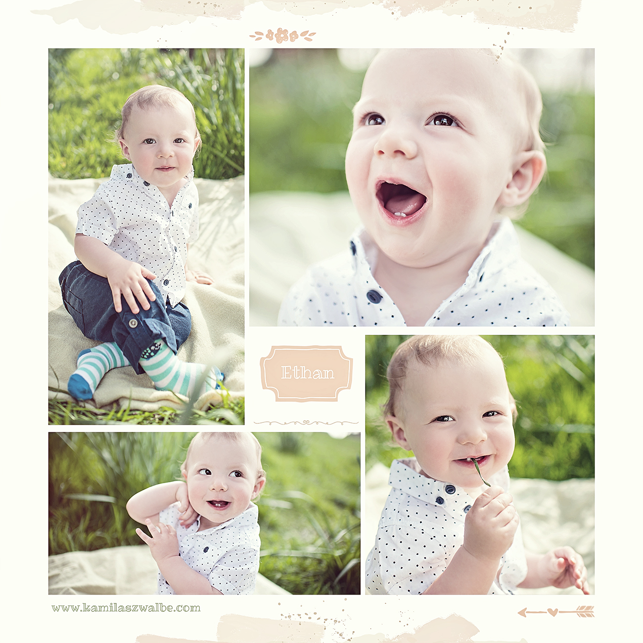 fun baby session