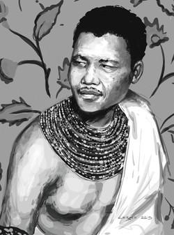 Nelson Mandela portrait by Cerino