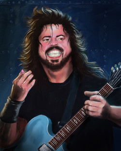 Dave Grohl portrait by Cerino