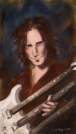 Steve Vai portrait by Cerino