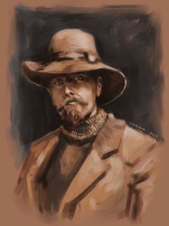 Man in woman's hat