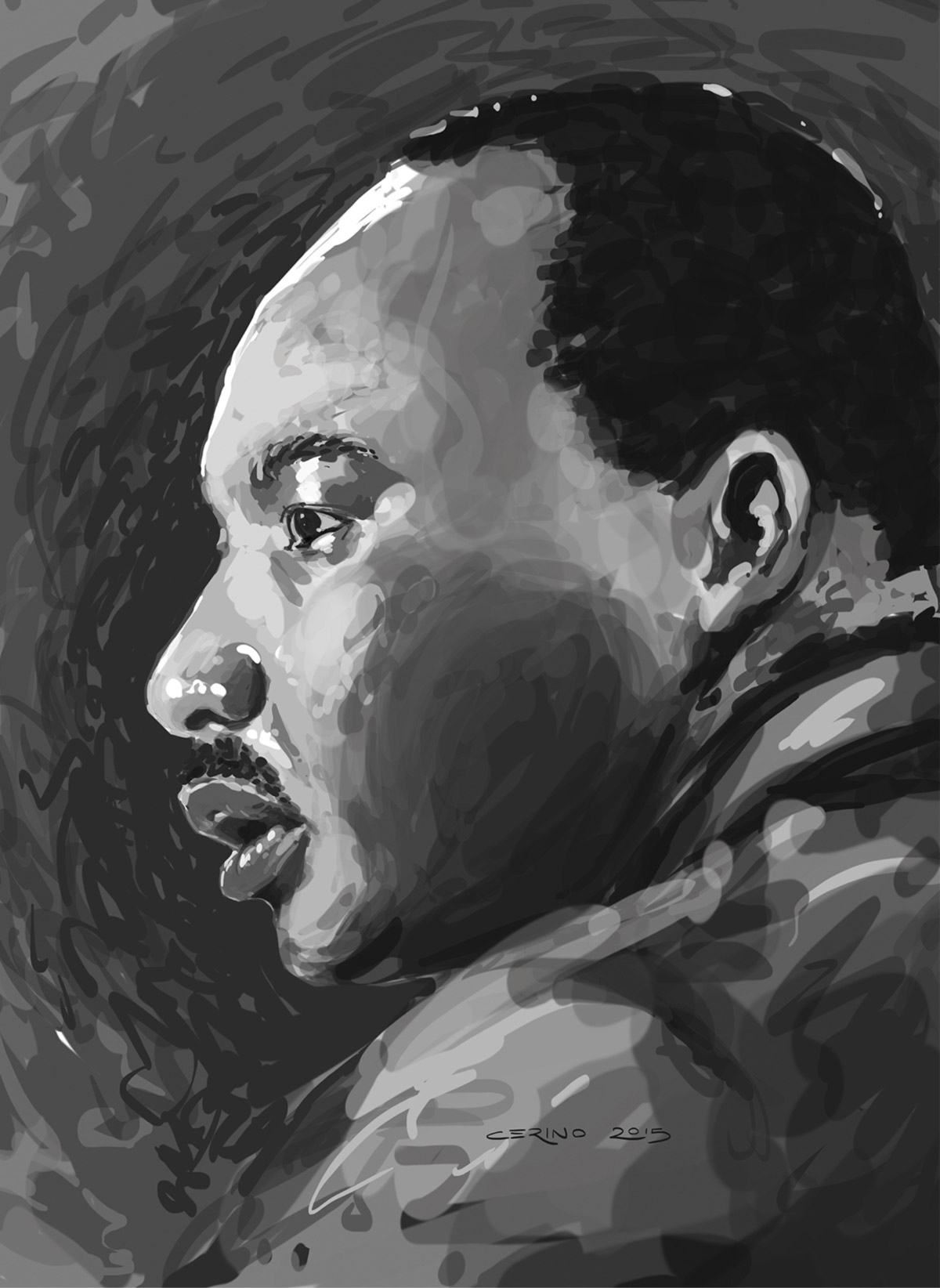 Martin Luther King Jr. portrait by C
