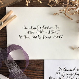 Gold envelope calligraphy addressing