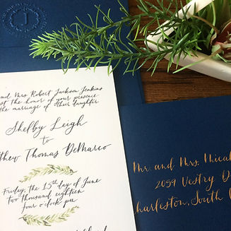 custom watercolor invitation design