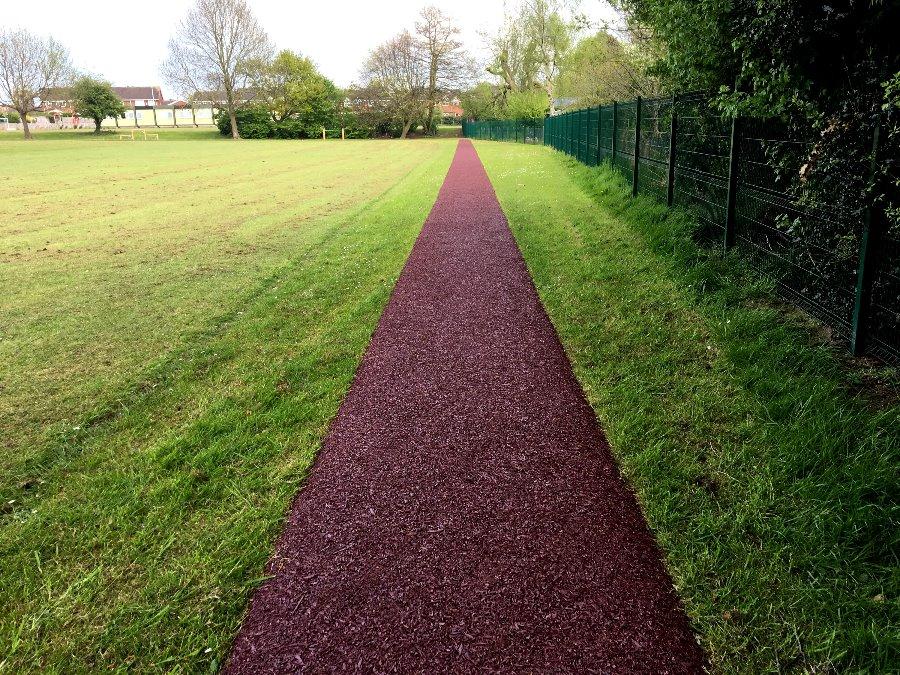 mulch-trackway