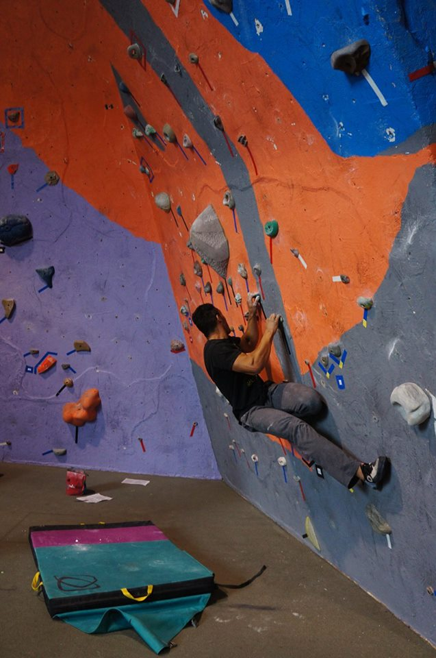 Working through a bouldering problem