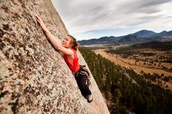 outdoor climbing on lumpy ridge