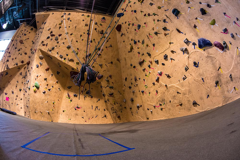 Climbing gym routes and problems