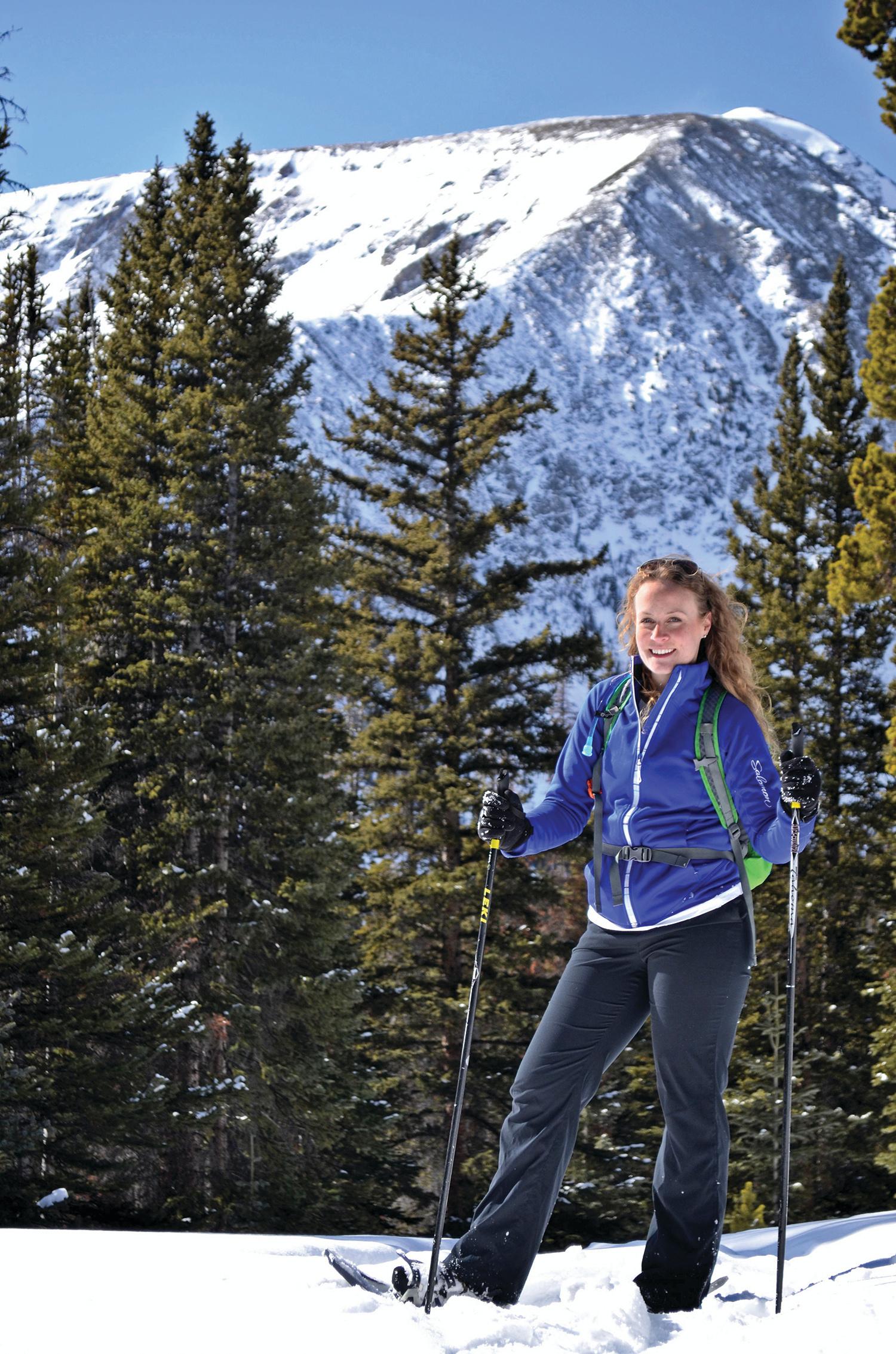 Female snowshoer