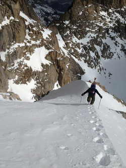 getting to top backcountry skiing
