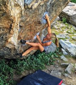 bouldering in national park