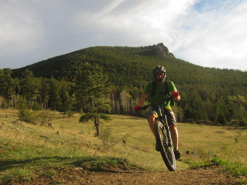 mountain biking on crosier mountain