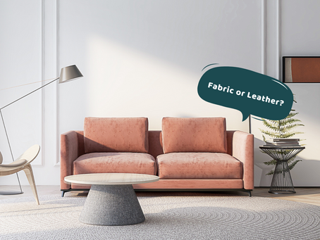 Shopping Guide - Fabric VS Leather Sofas
