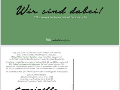 Troisdorf Gutschein+plus. Eine tolle Aktion der Stadt Troisdorf und der Stadtwerke !