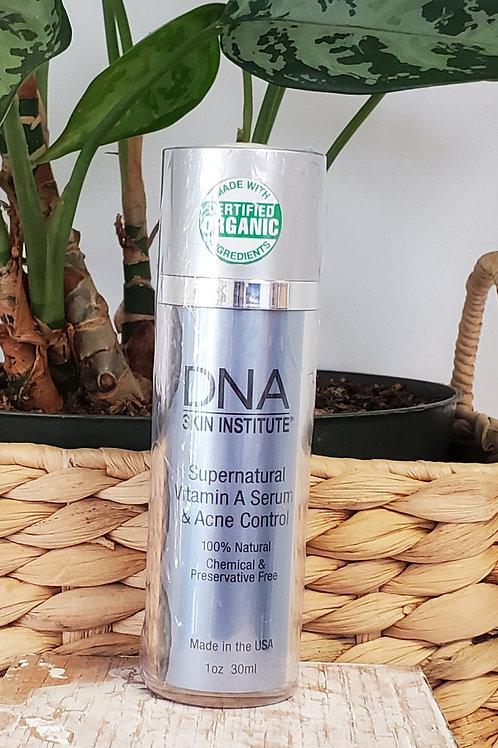DNA supernatural  vitamin A serum & acne control  1oz