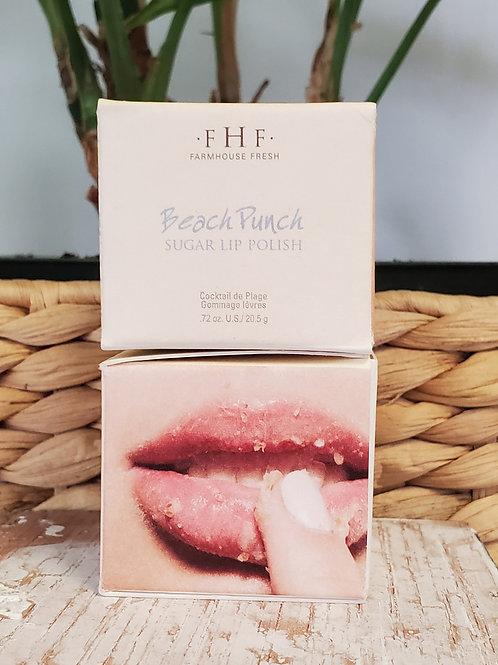 FHF beach punch sugar lip polish