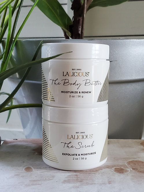 LaLicious The scrub & The body butter 2oz pack