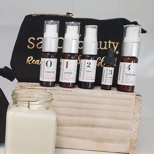 Savor travel skincare kit