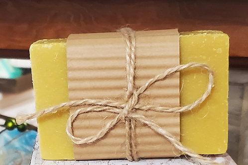 Banana coconut handmade soap