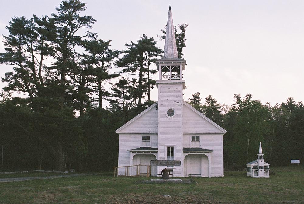 small white church