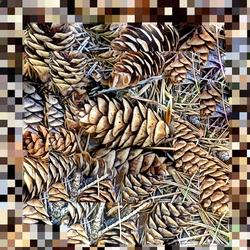 Pixelated Pine Cones