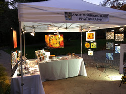 Art show booth set-up.