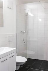 badezimmer, materialisierung, schwarz weiss