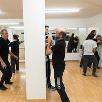 Kung Fu Kampf gegen mehrere Angreifer