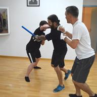 Corina - pak punch gegen Roman und Patri