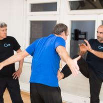 Kung Fu Stoptritt Roland und  Sifu