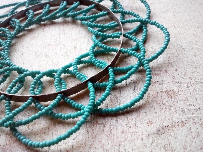 Geometric Lace - Cuff Bangle
