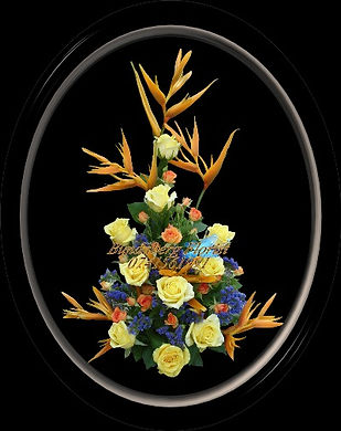 Hellaconias, Tropical flower arrangement,