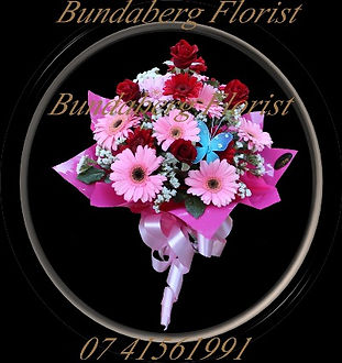 Gerberas,Roses,statice,Lilies, Hospital Flower Delivery Bundaberg.