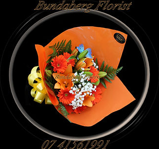 Bright mixed flower bouquet,