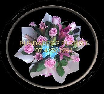 Bundaberg Florist,Oriental Lilies & Roses arrangement