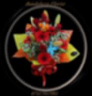 Geraldin Wax, red Roses, Lilies, Gerberas,