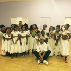 Mailon Rivera working with our queens on the African number ❤️