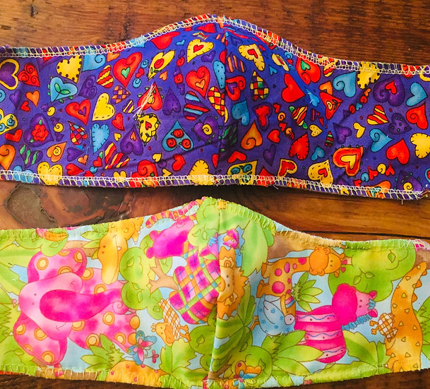 Jungle and hearts. Reversible.